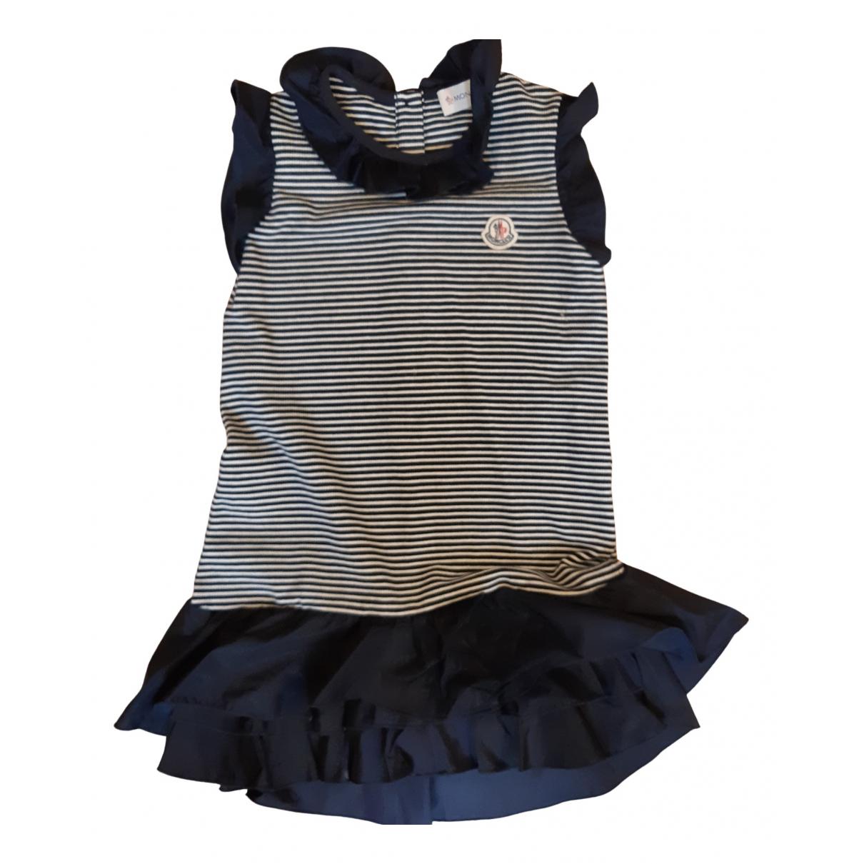 Moncler \N Kleid in  Blau Baumwolle