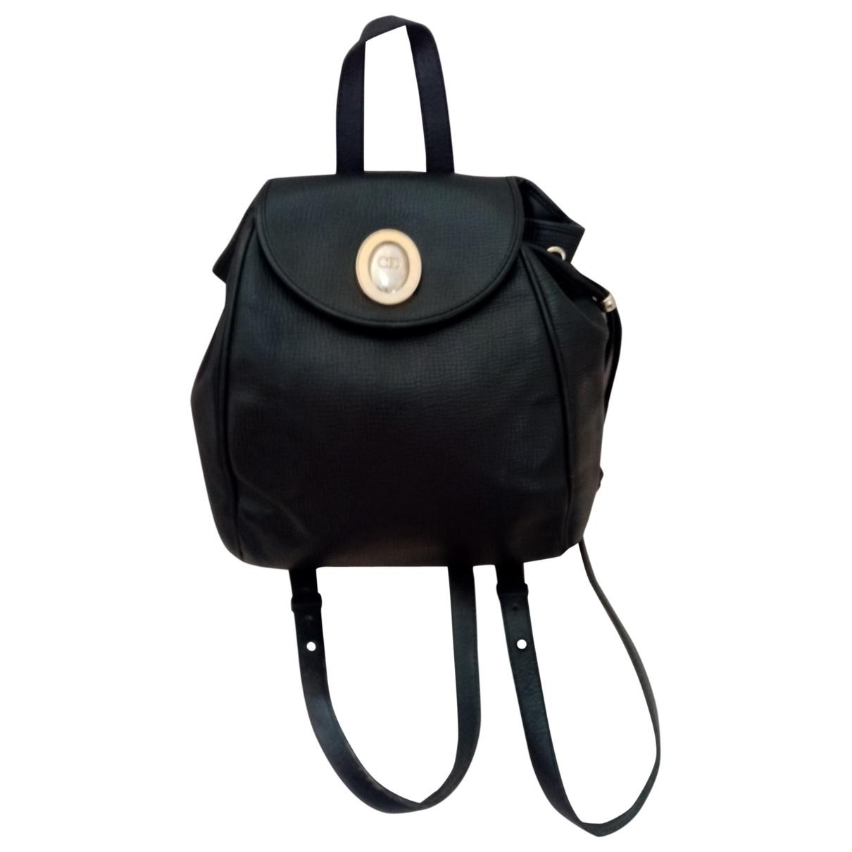 Dior - Sac a dos   pour femme en cuir - noir