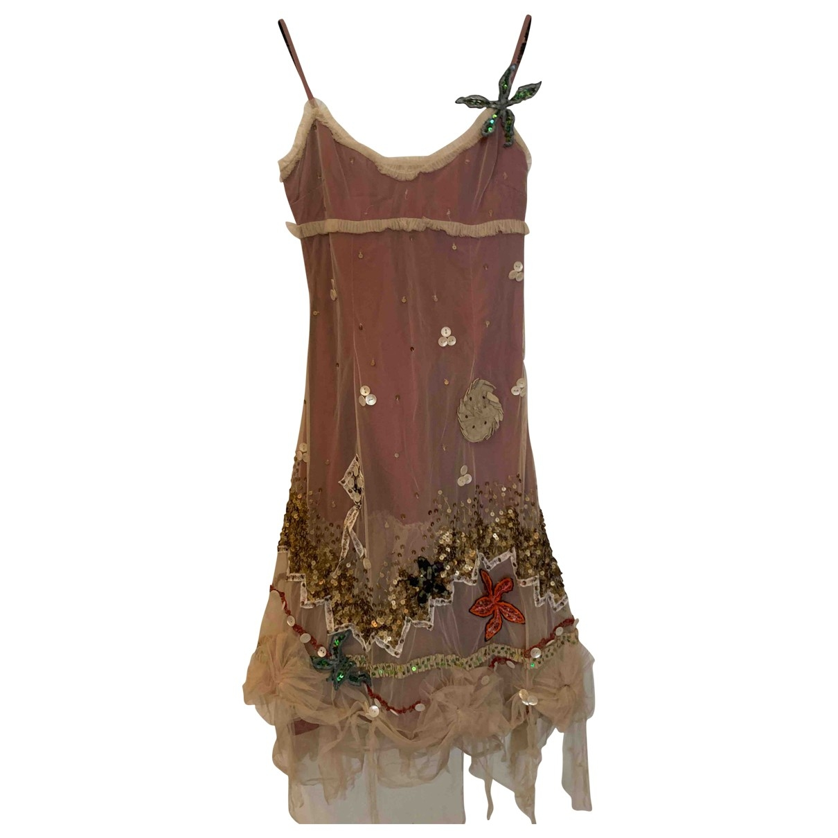 Non Signé / Unsigned \N Pink Glitter dress for Women 36 FR