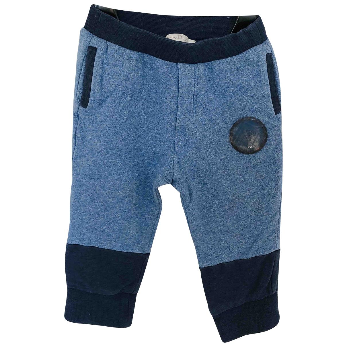 Baby Dior - Pantalon   pour enfant en coton - bleu