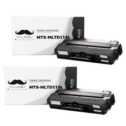Compatible Samsung MLT-D115L Black Toner Cartridge - Moustache - 2/Pack