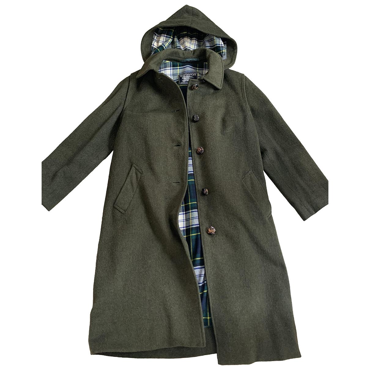 Burberry - Manteau   pour femme en fourrure synthetique - vert