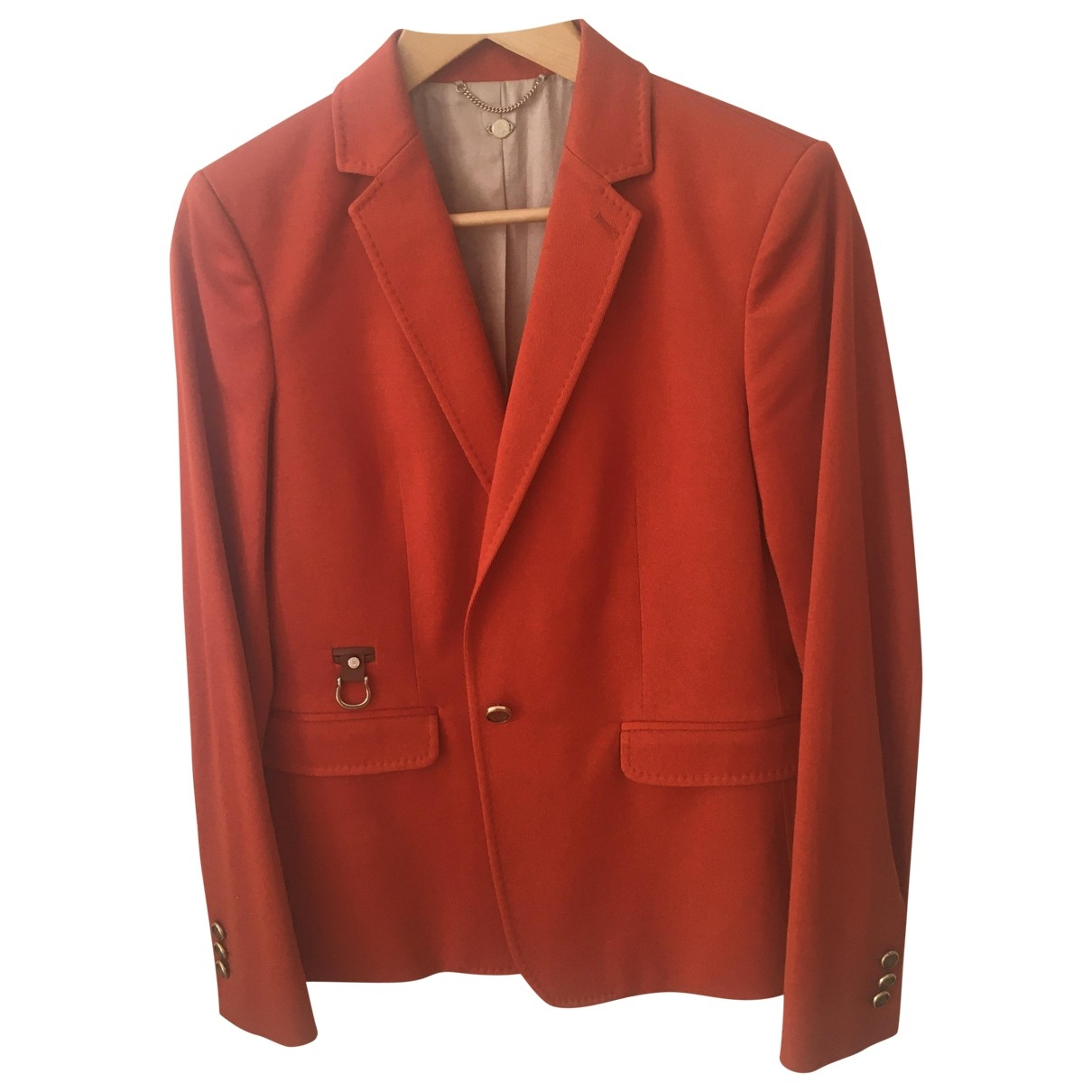 Massimo Dutti - Veste   pour femme en coton - orange
