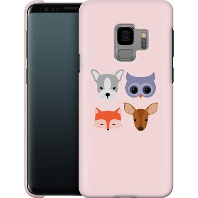 Samsung Galaxy S9 Smartphone Huelle - Animal Friends on Pink von caseable Designs