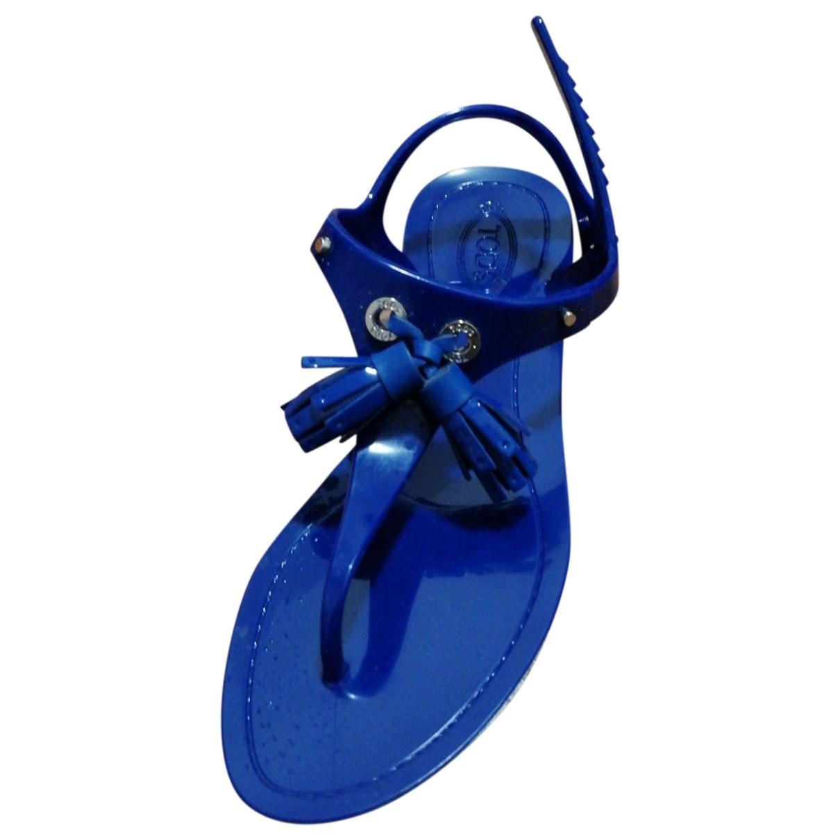 Tod's \N Blue Rubber Sandals for Women 38 EU