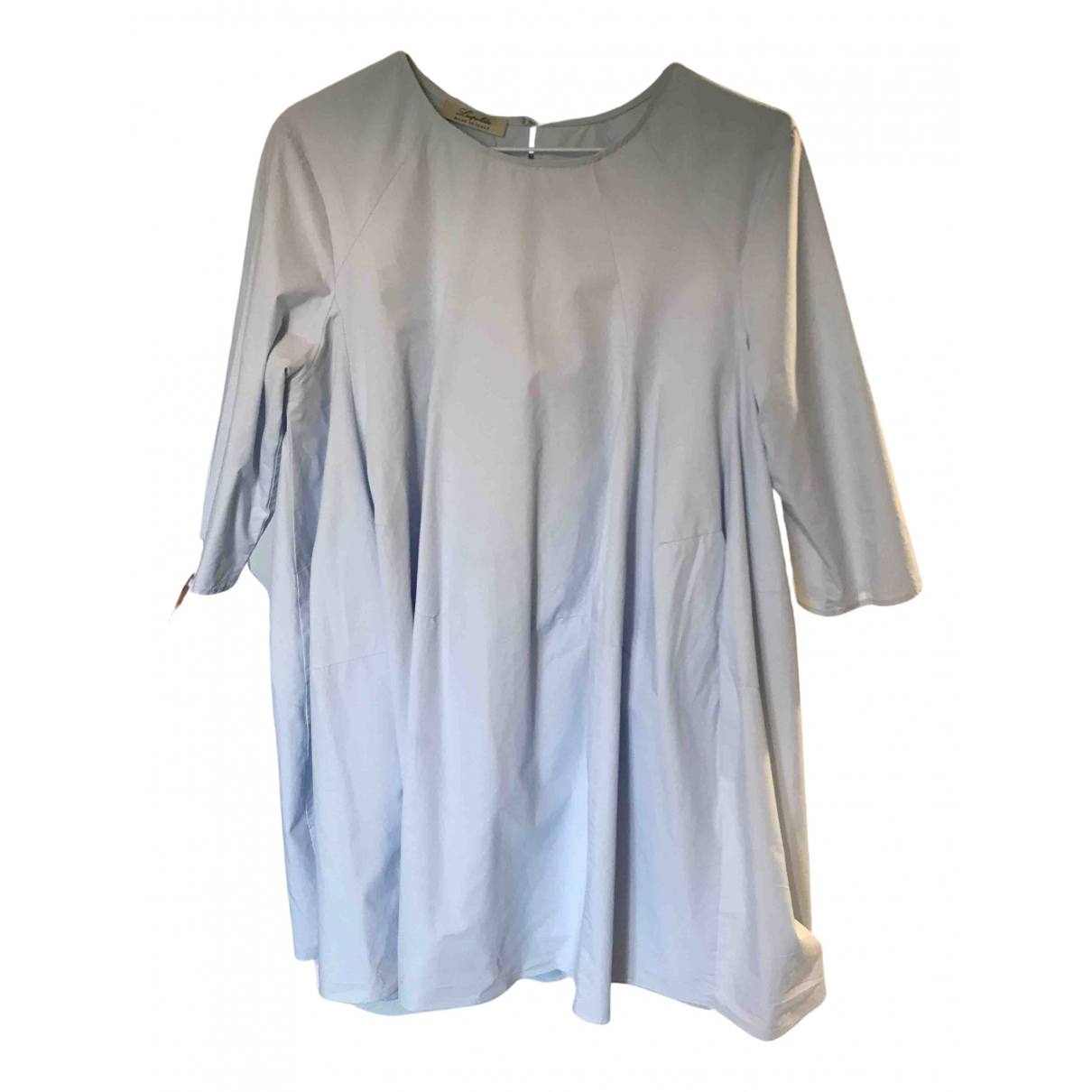 Non Signe / Unsigned Oversize Kleid in  Blau Baumwolle