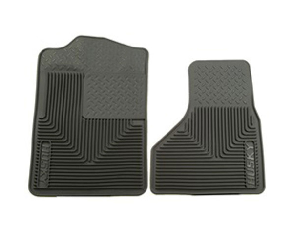 Husky Heavy Duty Front Floor Mats 08-09 Ford F-Series Super Duty-Grey