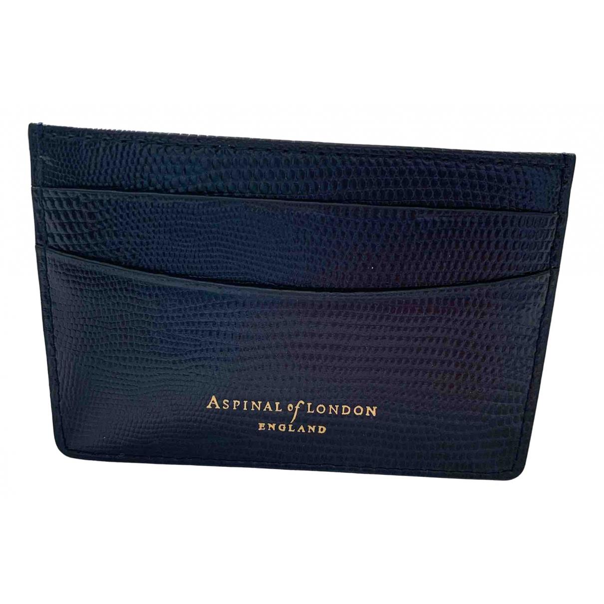 Aspinal Of London - Portefeuille   pour femme en cuir - marine