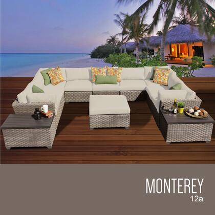MONTEREY-12a Monterey 12 Piece Outdoor Wicker Patio Furniture Set 12a with 1 Cover in