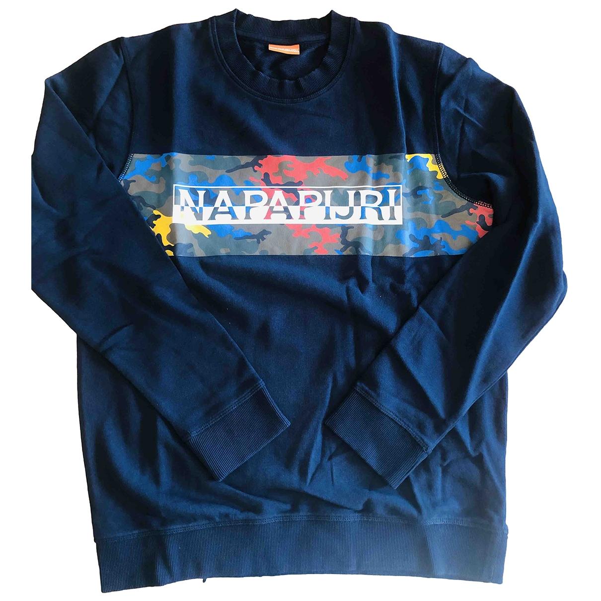 Napapijri \N Pullover.Westen.Sweatshirts  in  Blau Baumwolle