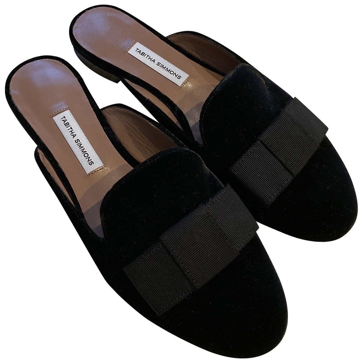 Tabitha Simmons \N Black Velvet Mules & Clogs for Women 36.5 EU