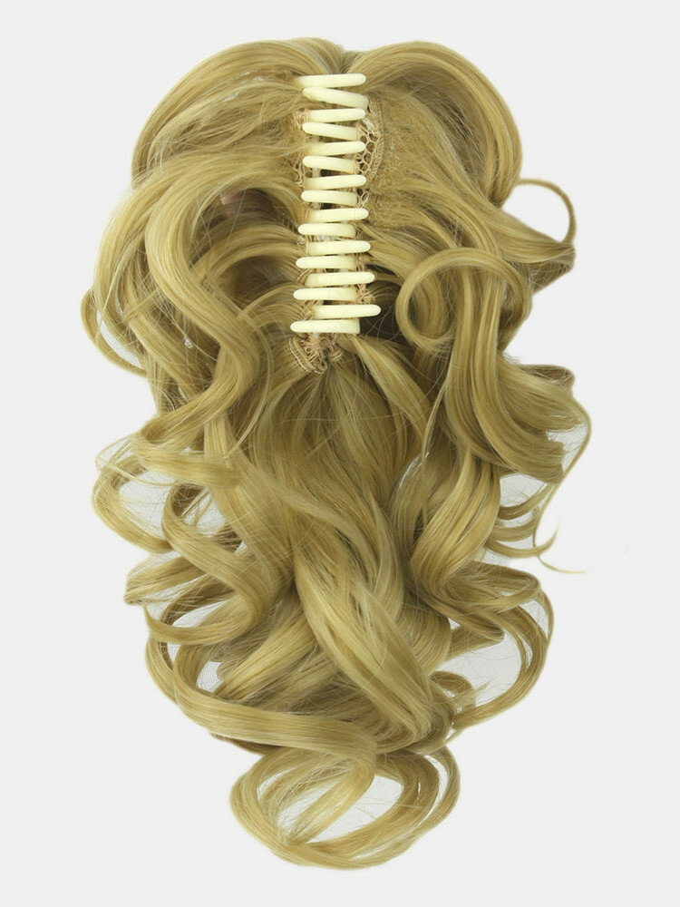 8 Colors Catch Clip Ponytail Hair Extensions Medium-Length Curly Chemical Fiber False Hair Pieces