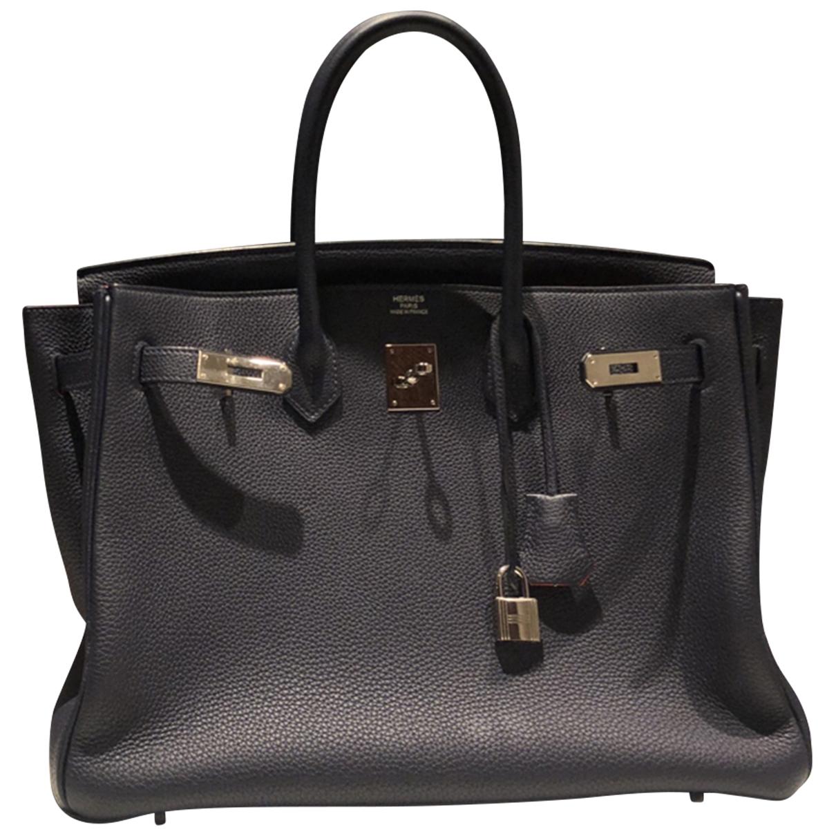 Hermes Birkin 35 Handtasche in  Bunt Leder