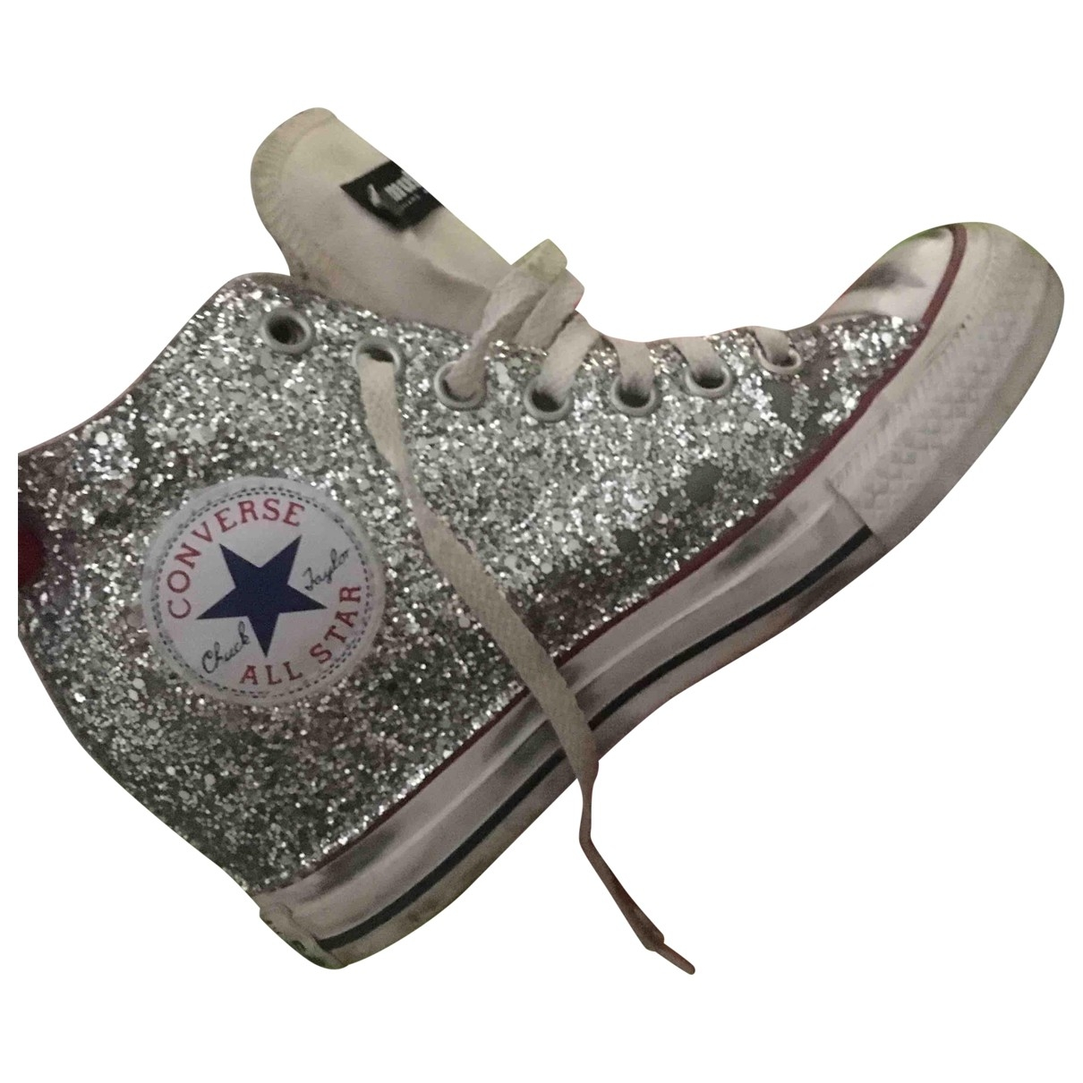 Converse \N Silver Glitter Trainers for Women 38 EU