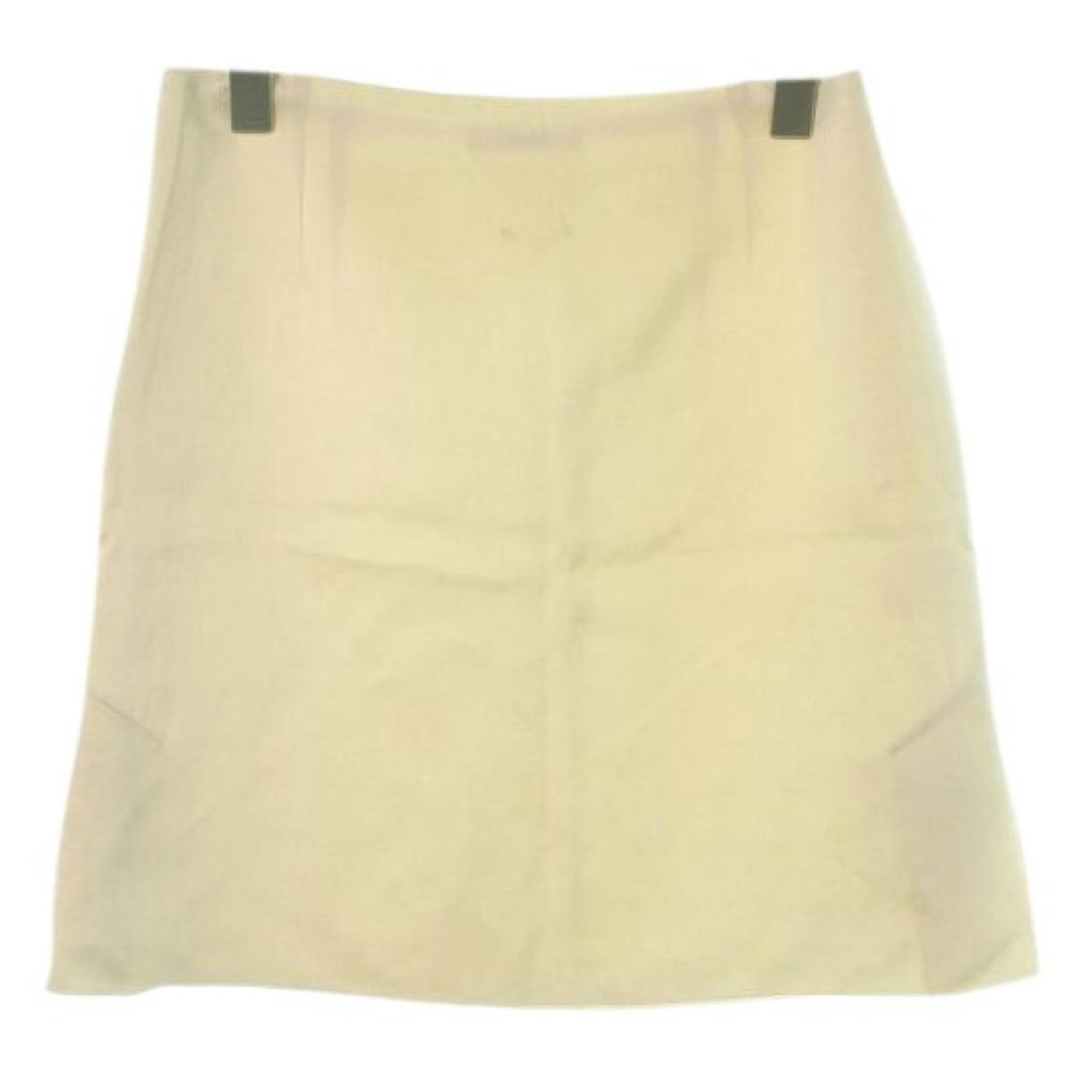 Celine \N Ecru Silk skirt for Women 36 FR