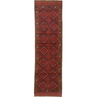 ECARPETGALLERY  Hand-knotted Tajik Caucasian Red Wool Rug - 2'0 x 9'0 (Red - 2'0 x 9'0)