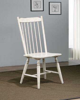 Ann Lee Collection CM3754SC-2PK Side Chair (Set of 2) in Antique White