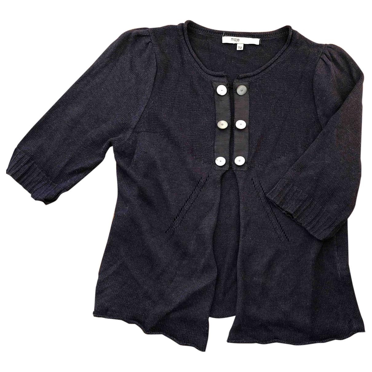 Maje \N Blue Cotton Knitwear for Women 2 0-5
