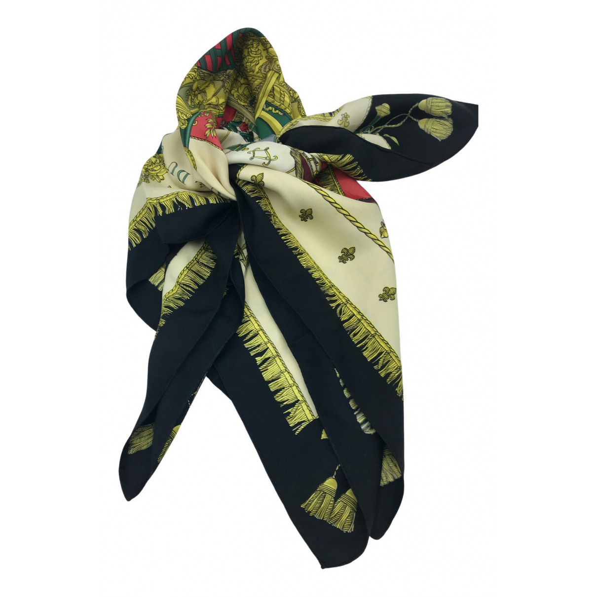 Hermès Carré 90 Black Silk Silk handkerchief for Women \N