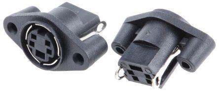 RS PRO 4 Pole Miniature Din Socket Socket, 1A, 100 V ac (5)