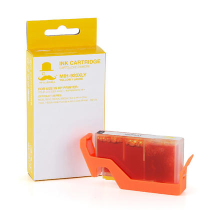 Compatible HP OfficeJet 6000 Yellow Ink Cartridge High Yield - Moustache
