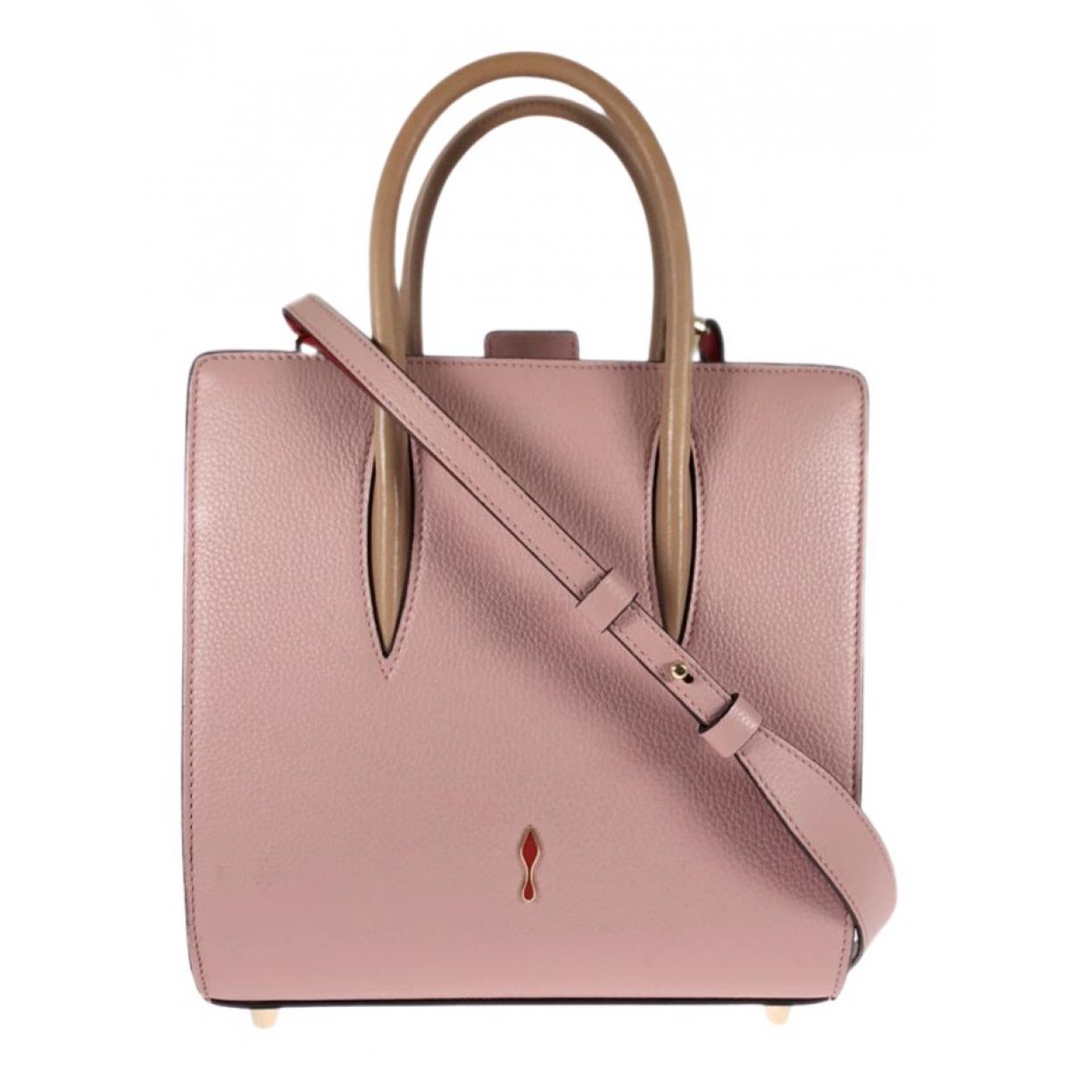 Christian Louboutin \N Handtasche in  Rosa Leder
