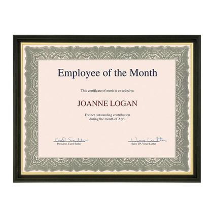 St.James™ Cadre de certificat toscan avec garniture en or, convient pour 8-1 / 2