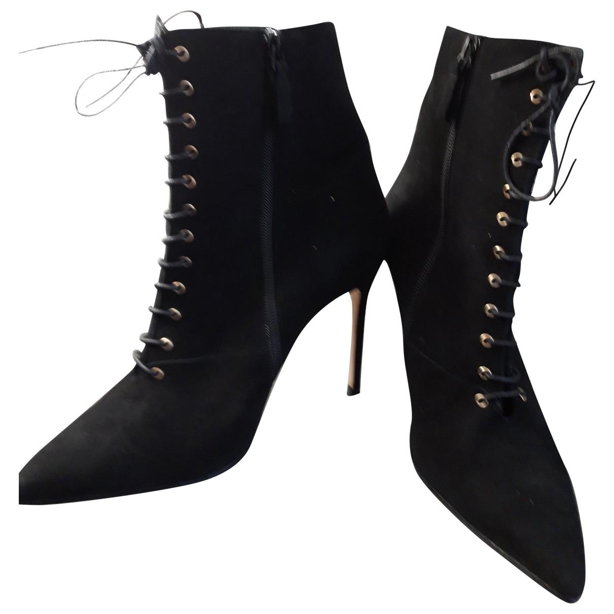 Carolina Herrera - Boots   pour femme en suede - noir