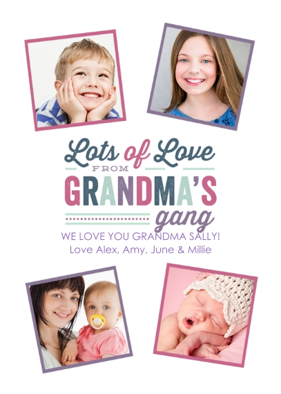 Grandparent's Day Mail-for-Me Premium 5x7 Folded Card , Card & Stationery -The Gang's All Here - Folded