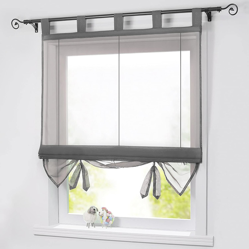 Simple Plain Translucidus Roman Sheer Shades for Cabinet and Kitchen Window