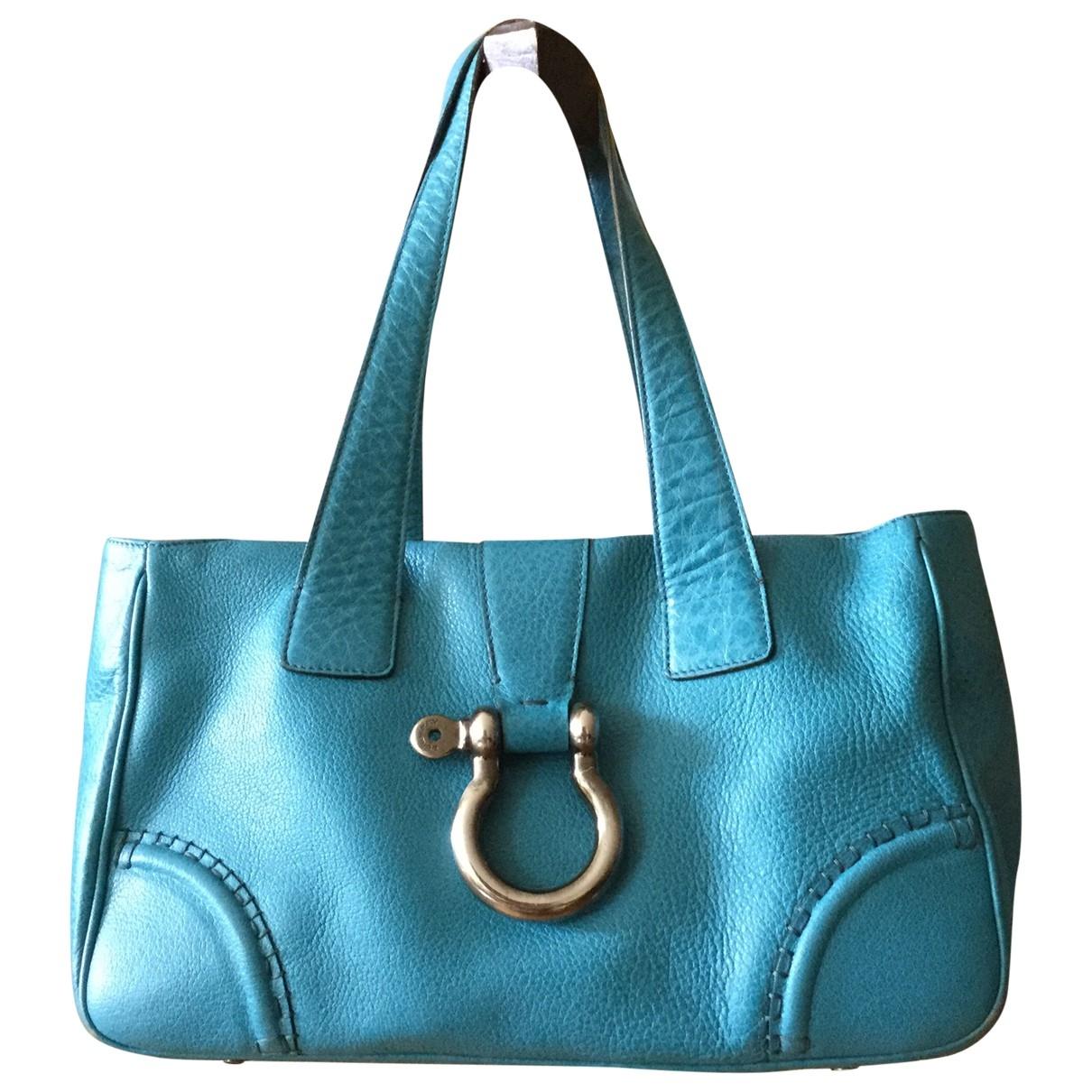 Burberry \N Turquoise Leather handbag for Women \N