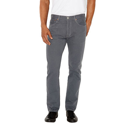 Levi's Mens 501 Regular Fit Straight Leg Jean, 34 36, Gray