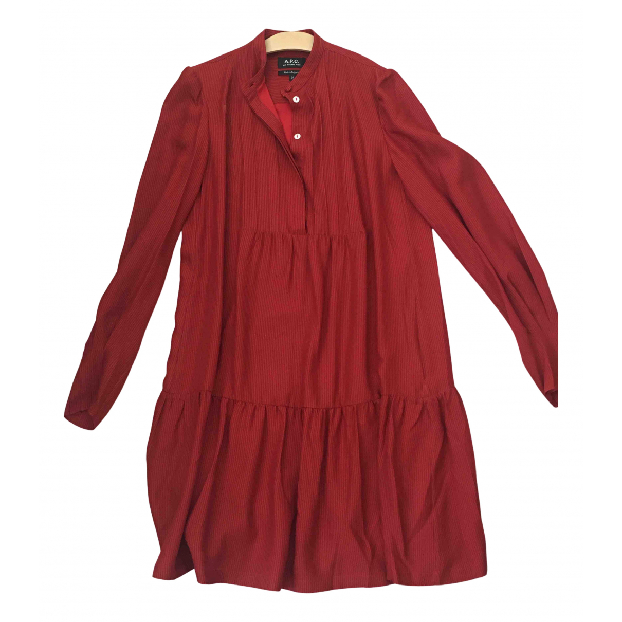 Apc \N Red Silk dress for Women 34 FR