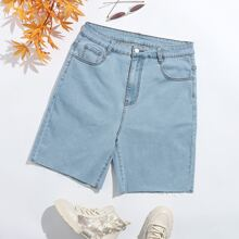 Shorts denim de lavado ligero