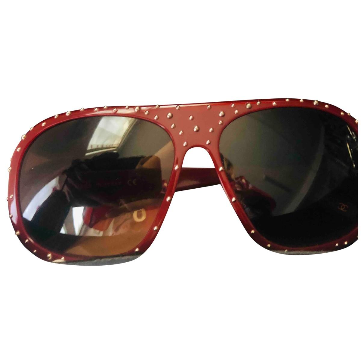 Chanel - Lunettes   pour femme - rouge