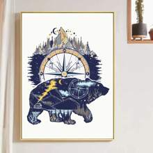 Polar Bear Print Wall Painting Without Frame