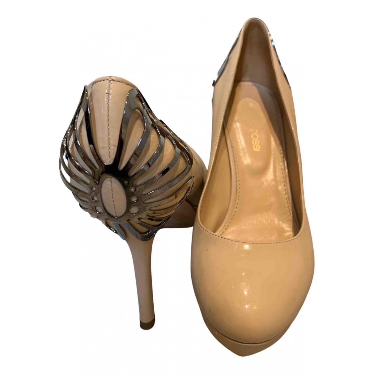 Sergio Rossi N Beige Patent leather Heels for Women 36.5 EU