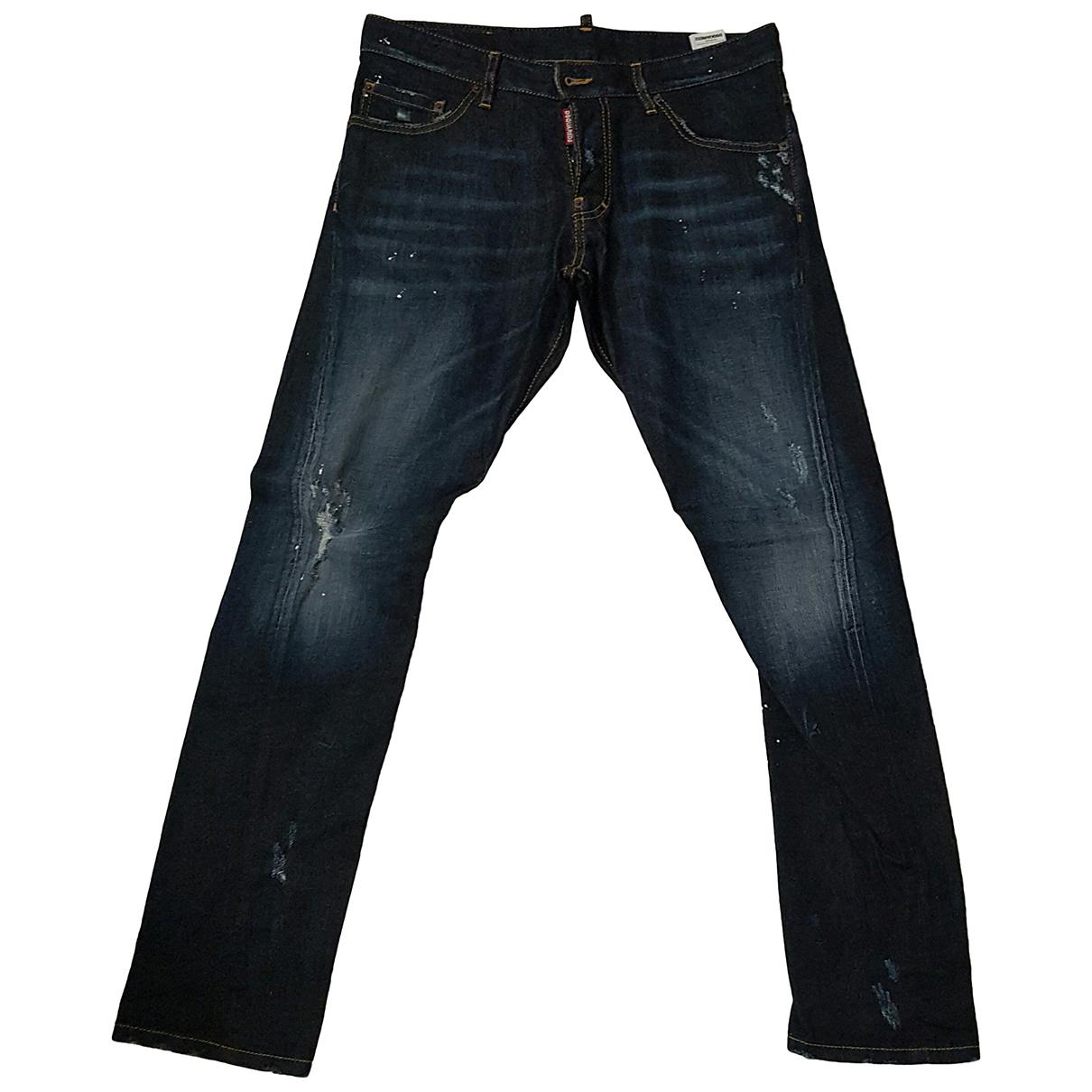 Dsquared2 N Blue Cotton Shorts for Men 48 IT