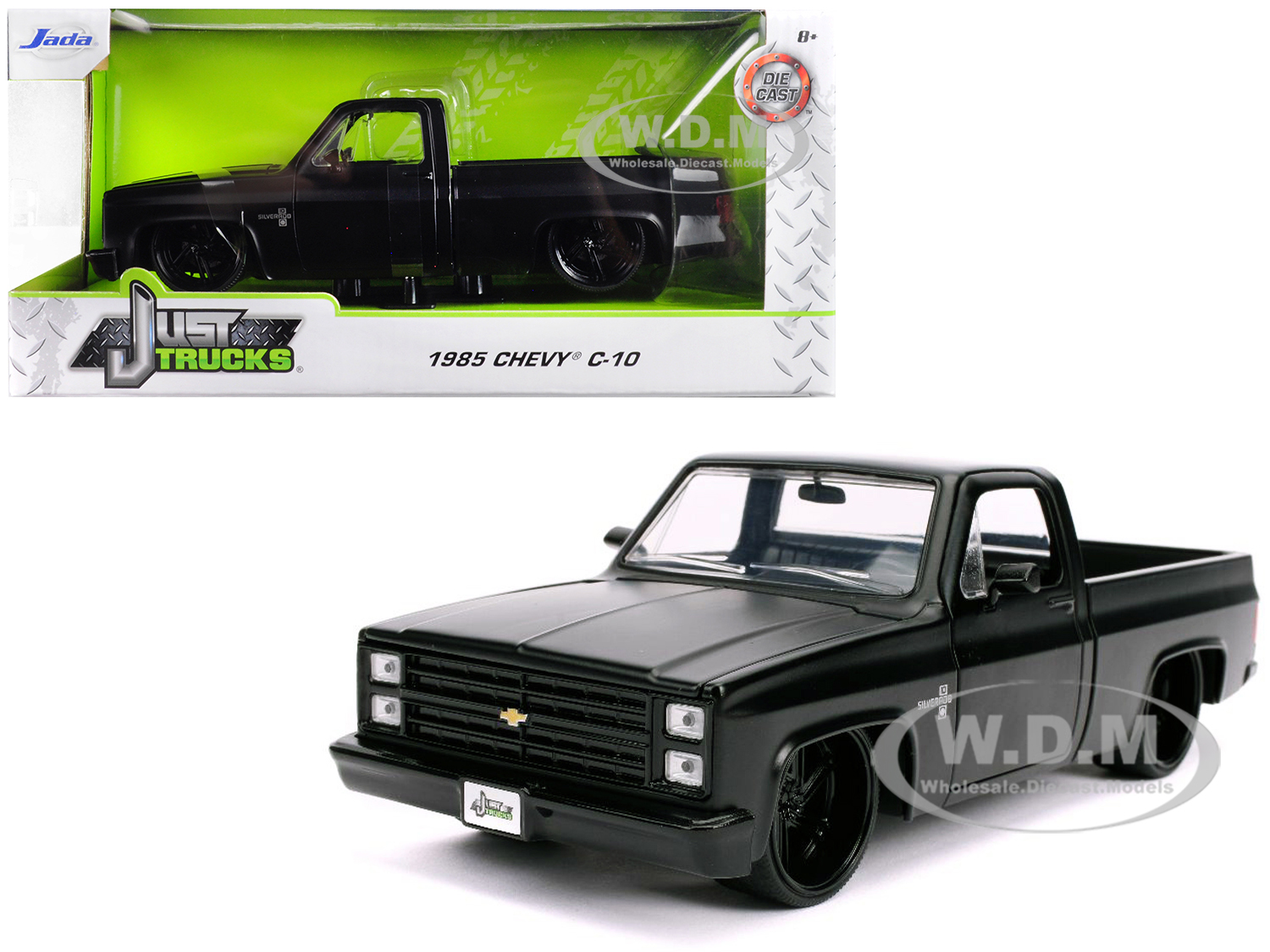 1985 Chevrolet Silverado C-10 Pickup Truck Matt Black with Black Wheels