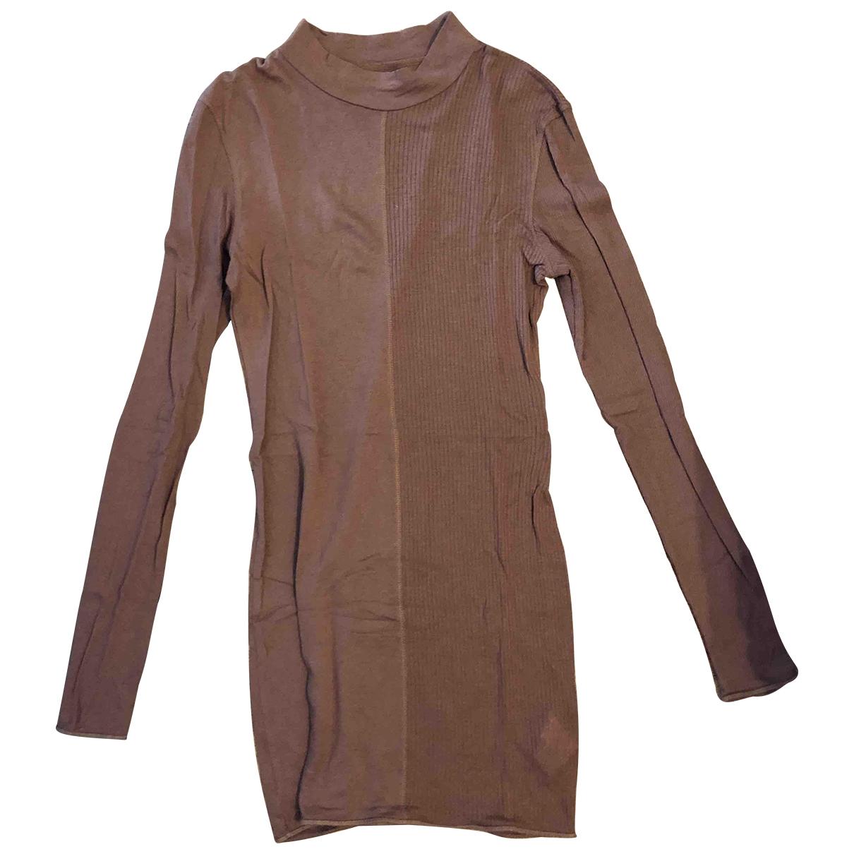 Acne Studios - Robe   pour femme en coton - camel