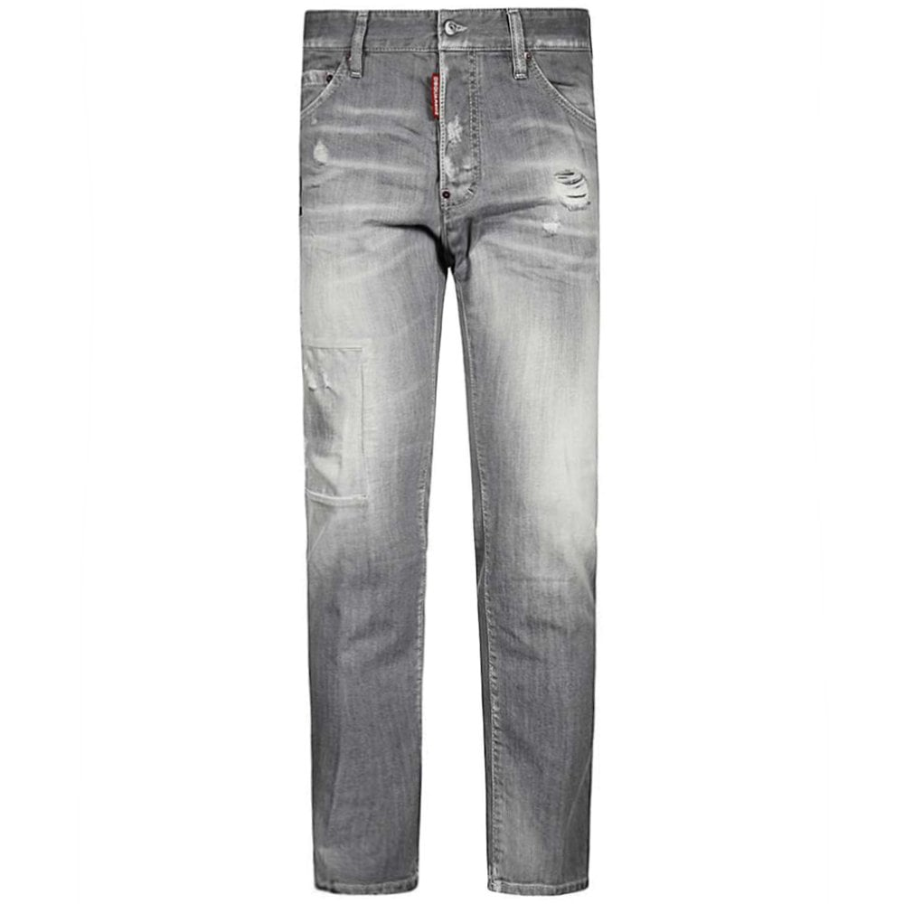 DSquared2 Patch Cool Guy Jeans Light Grey Colour: GREY, Size: 30 32