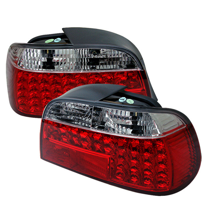 Spyder Auto ALT-YD-BE3895-LED-RC Red Clear LED Taillights BMW E38 730i 95-96