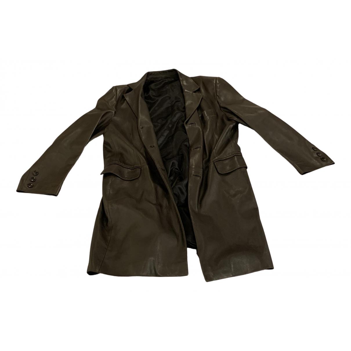 Jitrois - Manteau   pour homme en cuir - noir