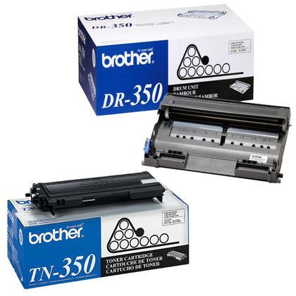 Brother TN350 DR350 Original Black Toner Cartridge & Drum Combo