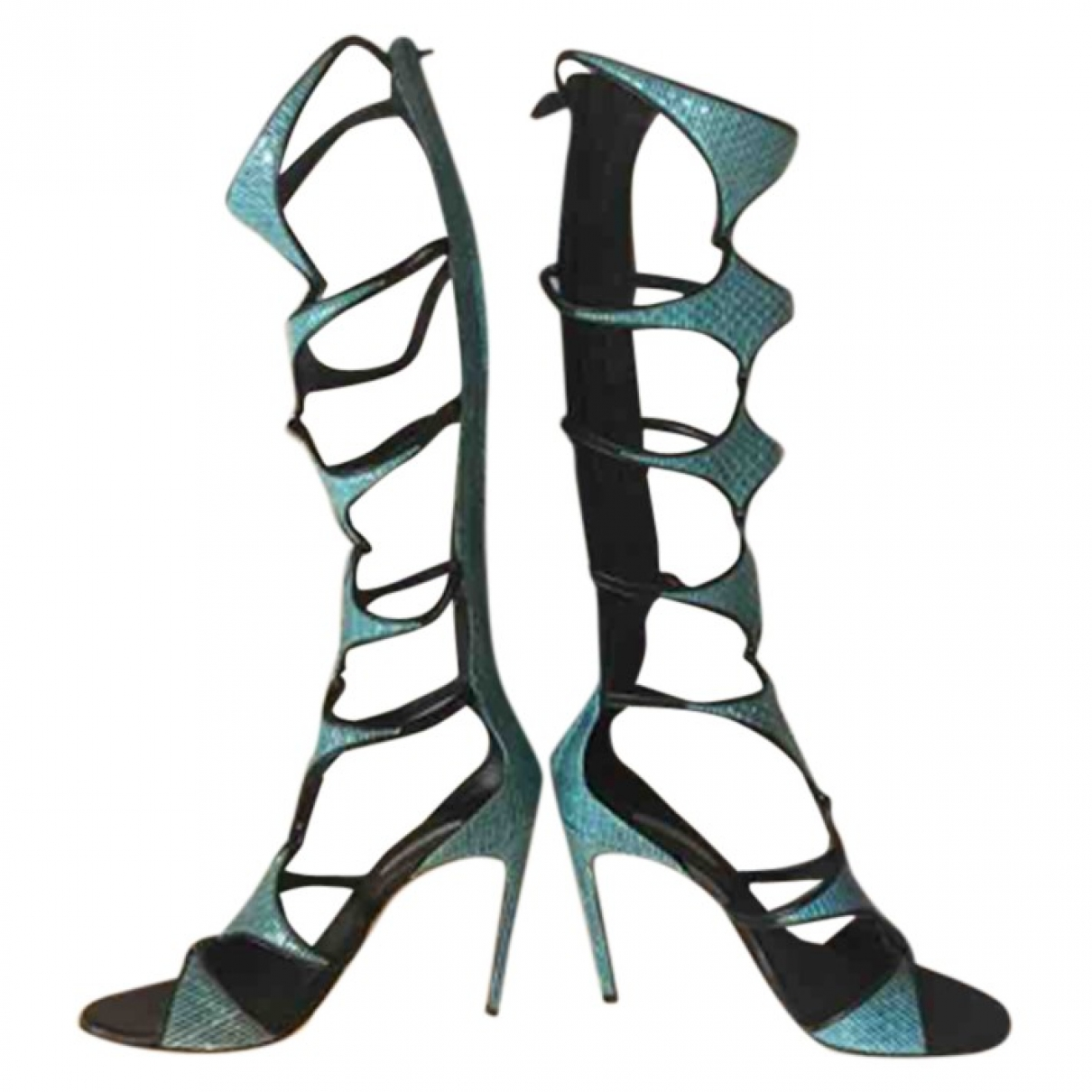 Casadei \N Turquoise Leather Sandals for Women 37 IT