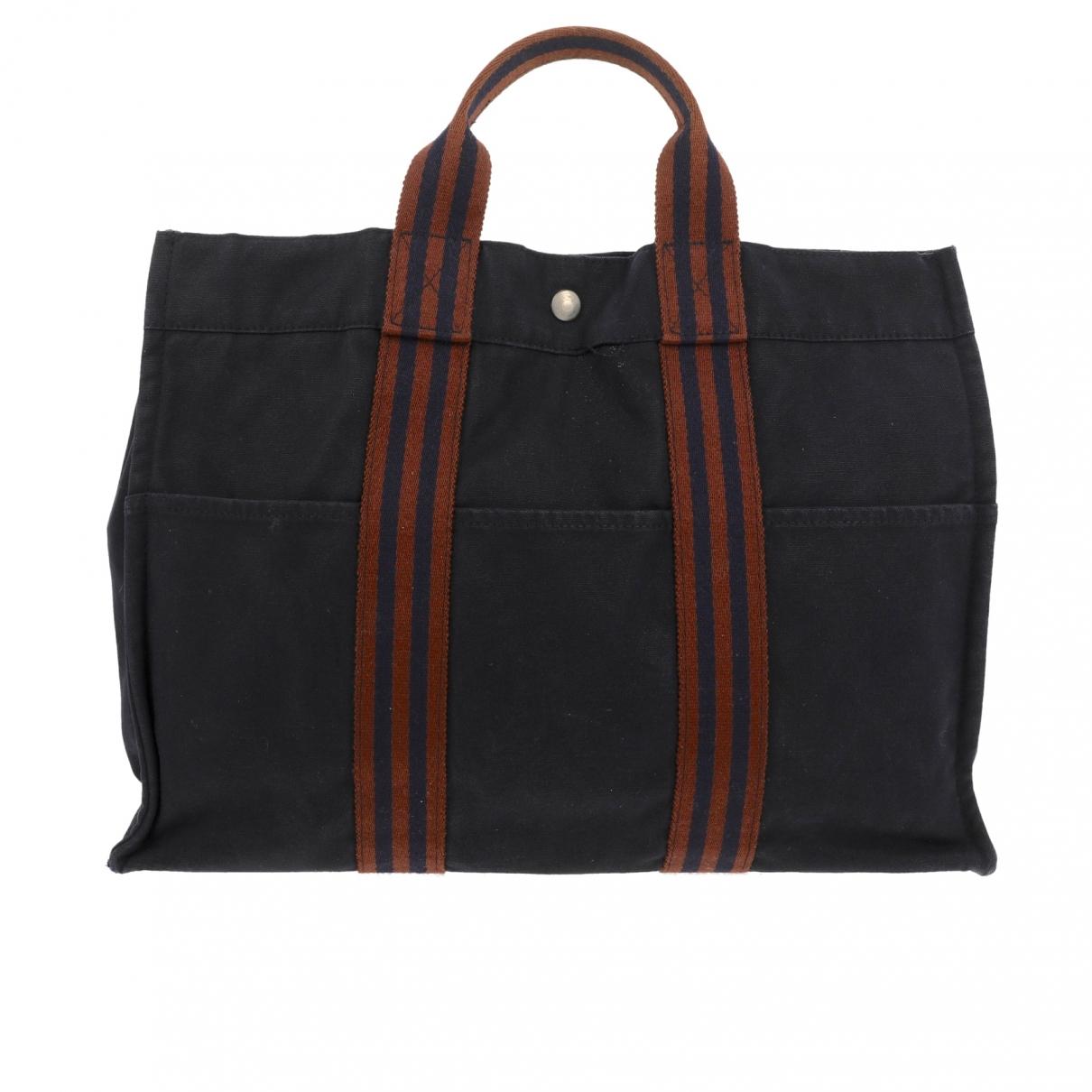 Hermès Toto Blue Cloth handbag for Women \N