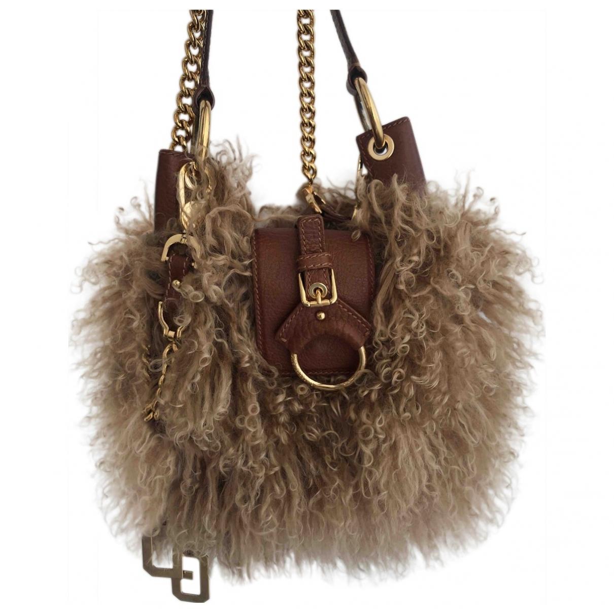 Dolce & Gabbana \N Handtasche in  Beige Schaf