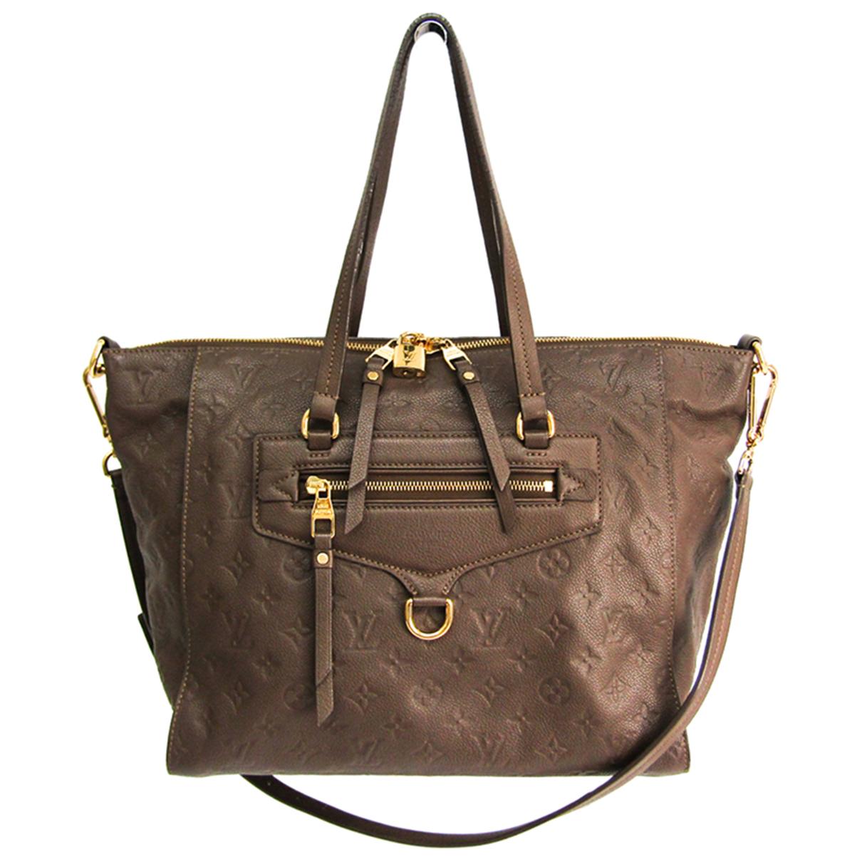 Louis Vuitton \N Handtasche in  Schwarz Leinen