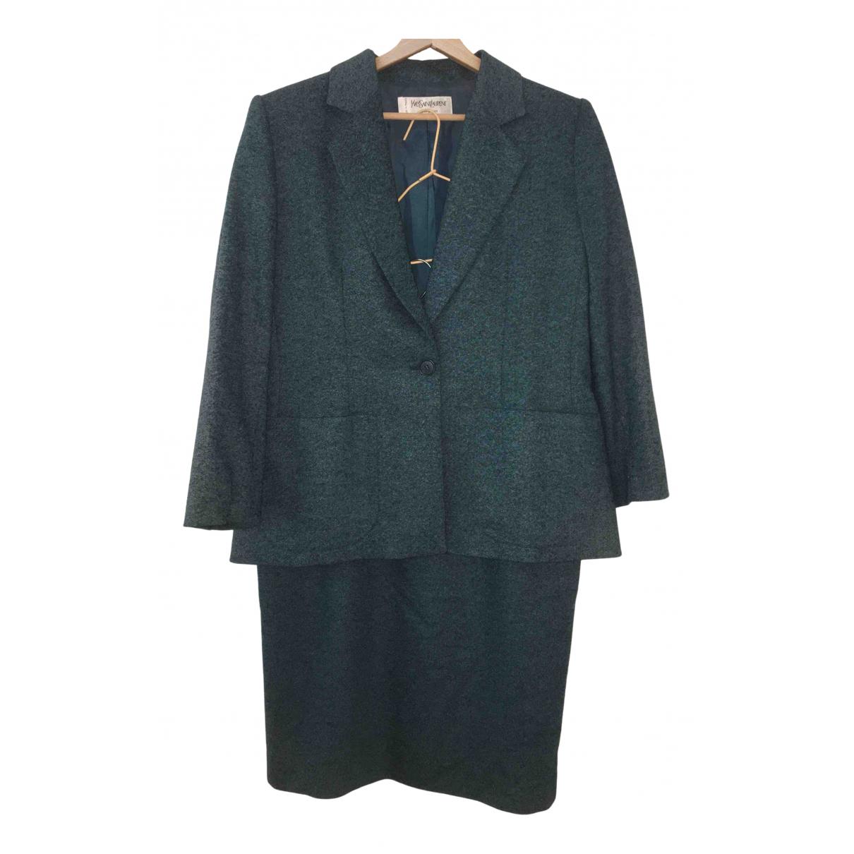 Yves Saint Laurent \N Blue Wool jacket for Women 42 FR