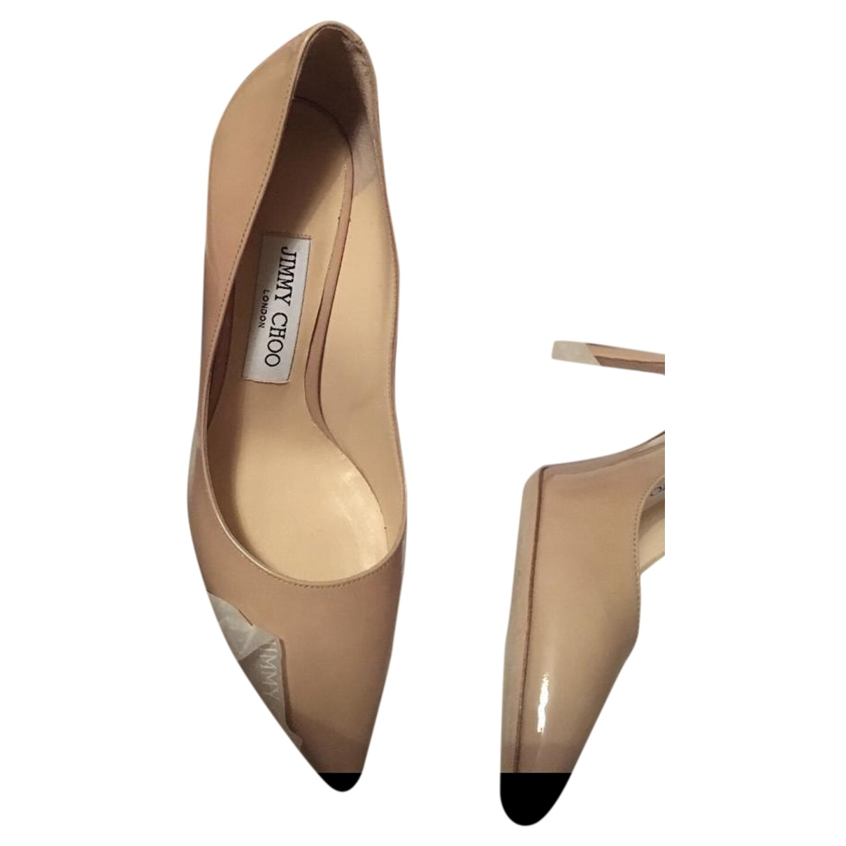 Jimmy Choo Romy Glitter Heels for Women 3.5 UK